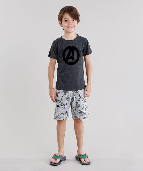 Pijama-Os-Vingadores-Manga-Curta-Cinza-Mescla-Escuro-9045362-Cinza_Mescla_Escuro_1
