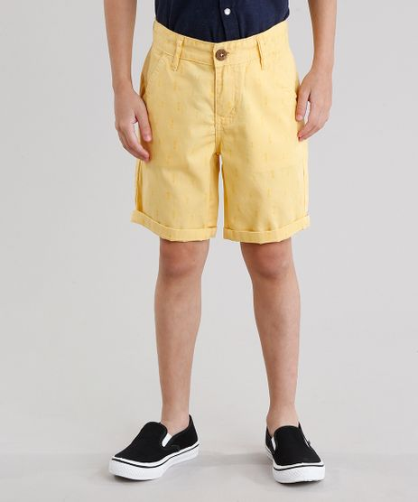 Bermuda-Infantil-Estampada-de-Flechas-Amarela-9046207-Amarelo_1