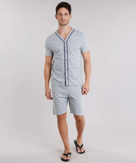 Pijama-Masculino-Cinza-Mescla-9048903-Cinza_Mescla_1