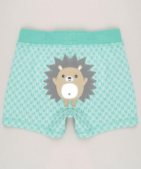 Short-Infantil-Estampado--Porco-Espinho--em-Algodao---Sustentavel-Verde-8814808-Verde_1