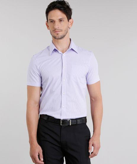 Camisa-Masculina-Comfort-Listrada-Manga-Curta-Lilas-8838197-Lilas_1