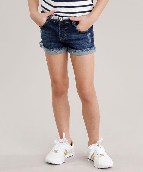 Short-Jeans-Infantil-com-Cinto-Metalizado-Azul-Escuro-9035500-Azul_Escuro_1