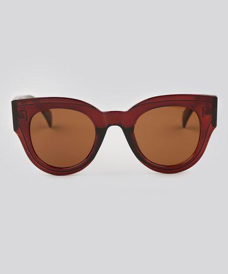 Oculos-de-Sol-Redondo-Feminino-Oneself-Marrom-9138096-Marrom_1