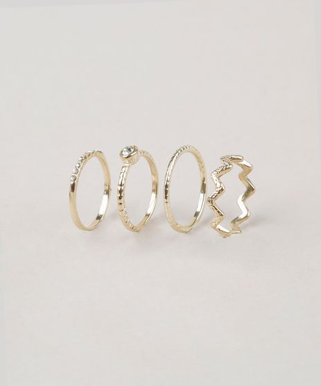 Kit-de-4-Aneis-Femininos--Dourado-8970360-Dourado_1