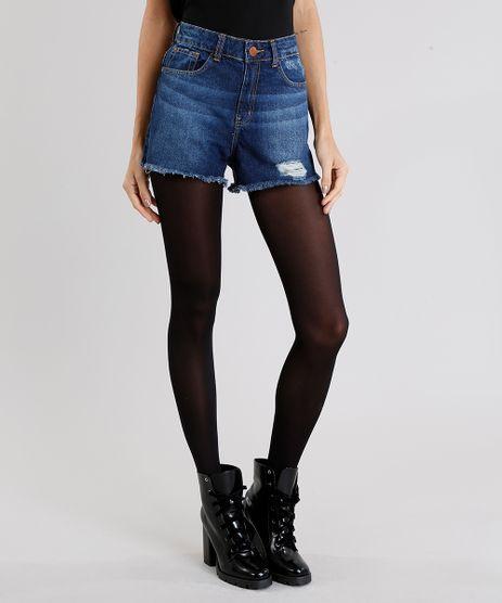 Short-Jeans-Feminino-Vintage-Azul-Medio-9006256-Azul_Medio_1