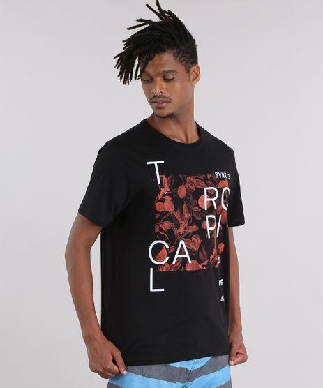 Camiseta--Tropical--com-Estampa-Floral-Preta-8907374-Preto_1
