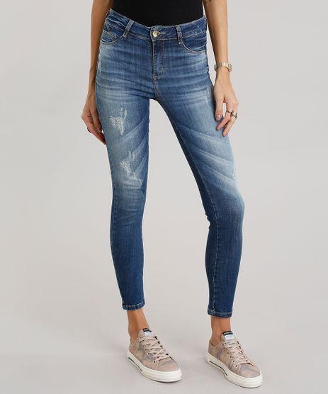 Calca-Jeans-Feminina-Super-Skinny-Pull-Up-Sawary-Azul-Escuro-9106142-Azul_Escuro_1