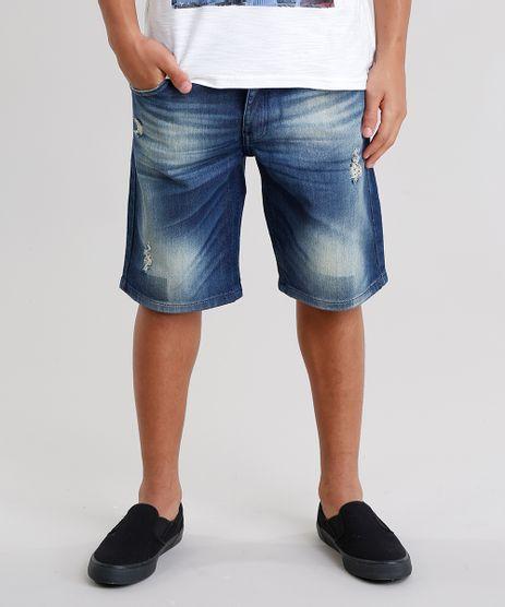 Bermuda-Slim-Jeans-com-Algodao---Sustentavel-Azul-Escuro-8708732-Azul_Escuro_1