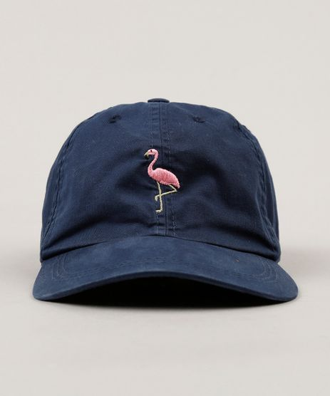 Bone-Masculino-com-Bordado-Flamingo-Azul-Marinho-9008201-Azul_Marinho_1