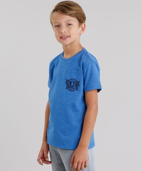 Camiseta-Infantil--NYC--com-Bolso-Manga-Curta-Gola-Redonda-Azul-9038334-Azul_1