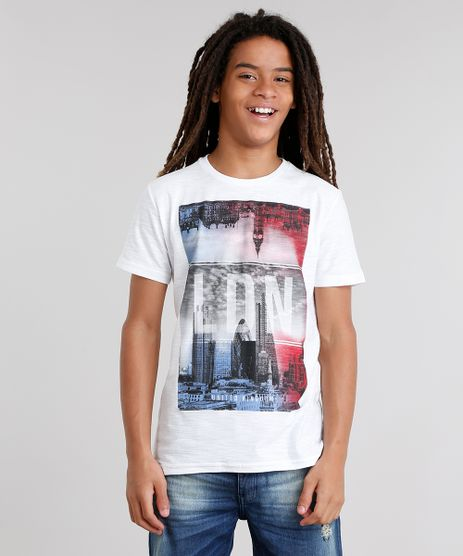 Camiseta-Infantil-Flame--LDN-Kingdom--Manga-Curta-Gola-Careca-Branca-9031421-Branco_1