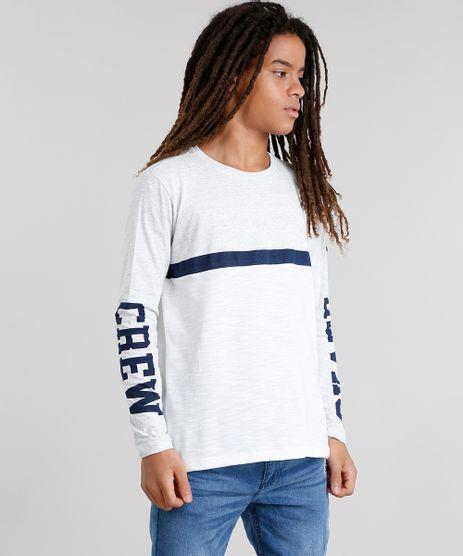 Camiseta-Infantil-com-Recorte-Manga-Longa-Gola-Careca-Cinza-Mescla-9033882-Cinza_Mescla_1