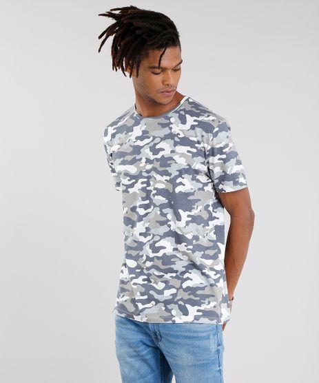 Camiseta-Masculina-Estampada-Camuflada-Manga-Curta-Gola-Careca-em-Algodao---Sustentavel-Cinza-9089661-Cinza_1