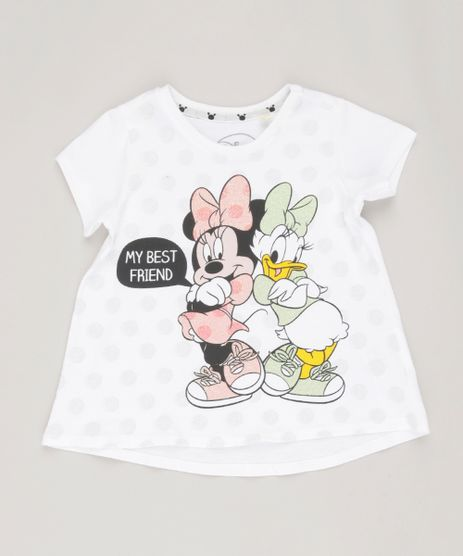 Blusa-Infantil-Minnie-e-Margarida-Manga-Curta-Decote-Redondo-em-Algodao---Sustentavel-Off-White-9135170-Off_White_1