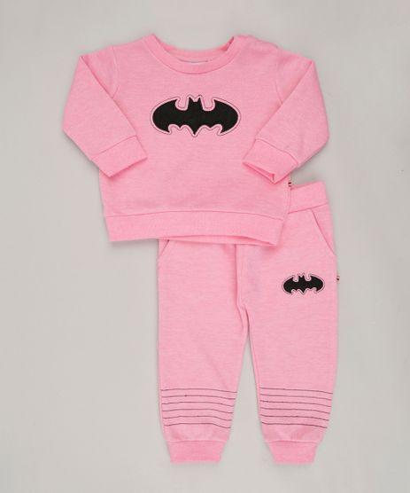Conjunto-Infantil-Batman-de-Blusao---Calca-em-Moletom-Rosa-8908901-Rosa_1