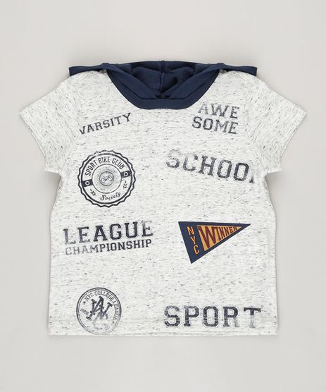 Camiseta-Infantil-Flame--School--com-Capuz-Manga-Curta-Cinza-Mescla-9036596-Cinza_Mescla_1