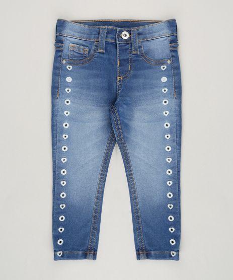 Calca-Jeans-Infantil-com-Bordado-em-Algodao---Sustentavel-Azul-Medio-9071167-Azul_Medio_1