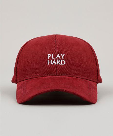 Bone-Masculino--Play-Hard--com-Suede-Vinho-9008176-Vinho_1