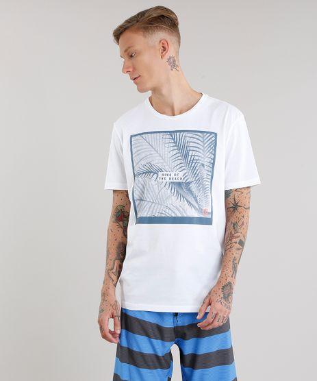 Camiseta-Masculina-com-Estampa-de-Folhagem-Manga-Curta-Gola-Redonda-Branca-8908368-Branco_1