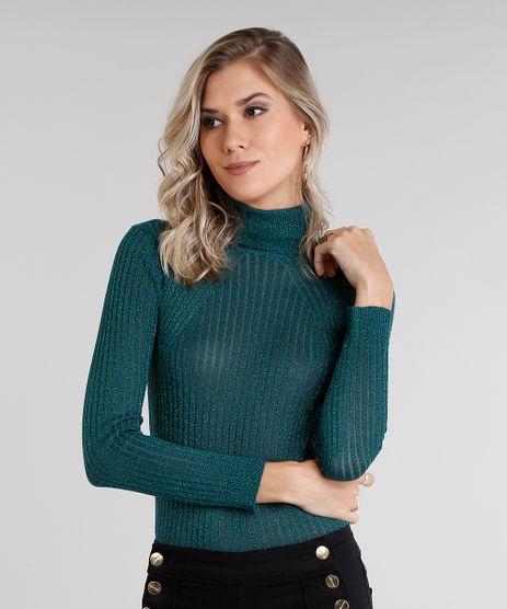 Sueter-Cacharrel-Feminino-com-Lurex-em-Trico-Manga-Longa-Gola-Alta-Verde-8854146-Verde_1