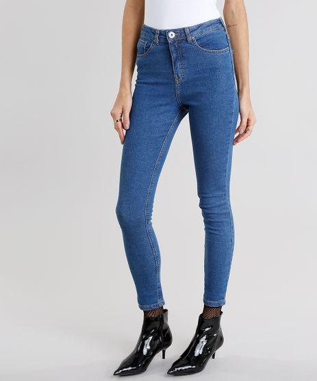 Calca-Jegging-Feminina-Cintura-Alta-Azul-Medio-8997189-Azul_Medio_1