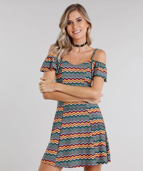 Vestido-Feminino-Open-Shoulder-Estampado-Geometrico-Verde-9033234-Verde_1