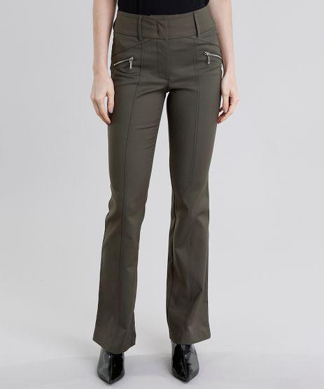 Calca-Feminina-Flare-Verde-Militar-8968140-Verde_Militar_1