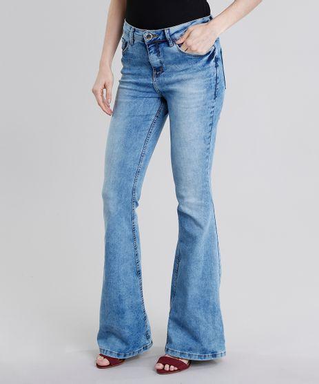 Calca-Jeans-Feminina-Flare-Marmorizada-Azul-Claro-9071240-Azul_Claro_1