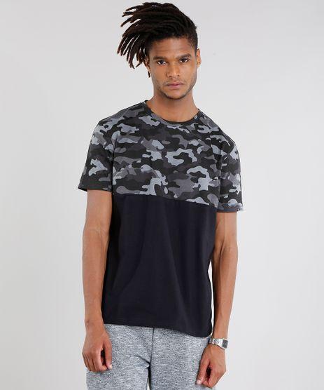 Camiseta-Masculina-com-Estampa-Camuflada-Manga-Curta-Gola-Careca-Preta-9089663-Preto_1