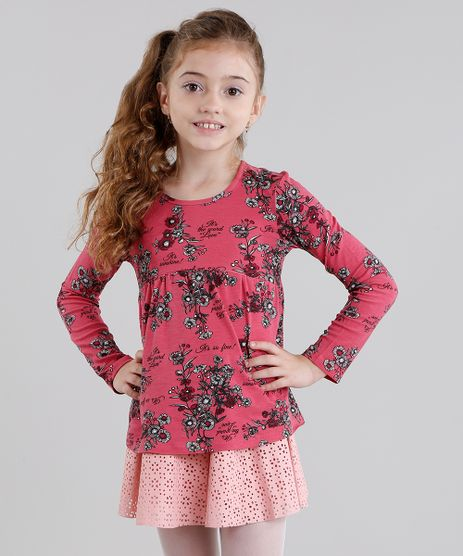 Blusa-Infantil-Estampada-Floral-Manga-Longa-Decote-Redondo-Rosa-9041161-Rosa_1