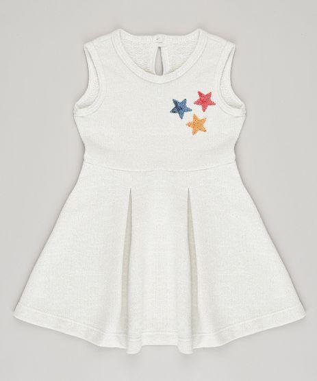 Vestido-Infantil-com-Lurex-e-Paetes-Bege-Claro-9040783-Bege_Claro_1