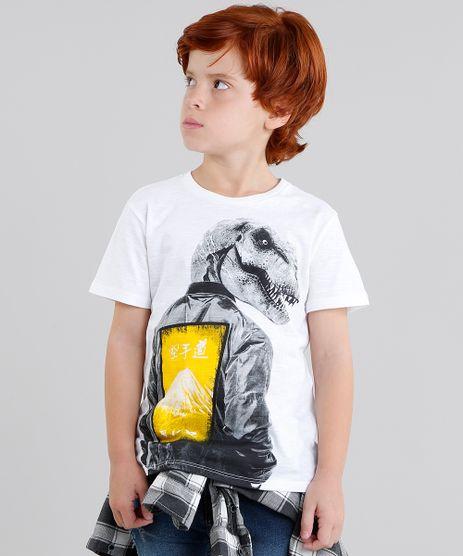 Camiseta-Infantil-Dinossauro-Manga-Curta-Gola-Careca-Off-White-9040828-Off_White_1