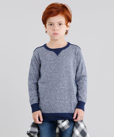 Sueter-Infantil-em-Trico-Manga-Longa-Gola-Careca-Azul-Marinho-8842334-Azul_Marinho_1