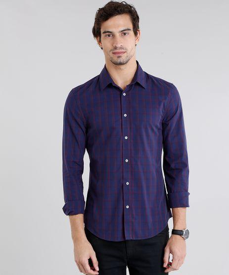 Camisa-Masculina-Slim-Listrada-Manga-Longa-Azul-Marinho-8852716-Azul_Marinho_1