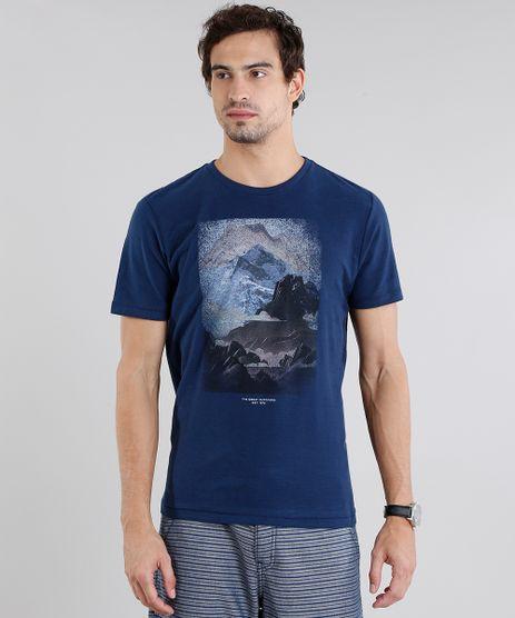 Camiseta-Masculina--Paisagem--Manga-Curta-Gola-Careca-Azul-Marinho-9115033-Azul_Marinho_1