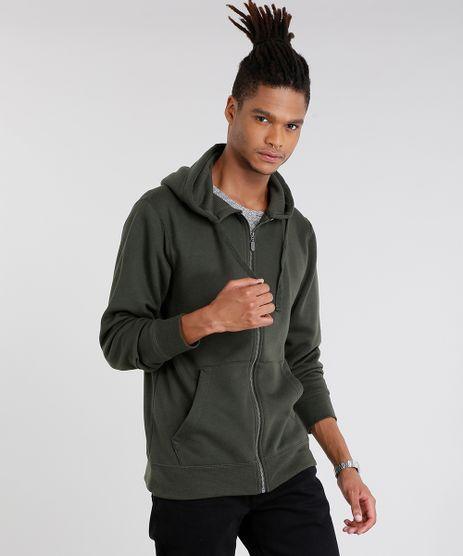 Blusao-Masculino-em-Moletom-Basico-com-Capuz-Manga-Longa-Verde-Militar-8829212-Verde_Militar_1