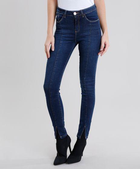 Calca-Jeans-Feminina-Super-Skinny-Cintura-Alta-Azul-Escuro-9031170-Azul_Escuro_1