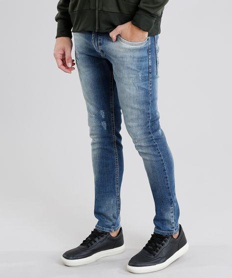 Calca-Jeans-Masculina-Skinny-em-Algodao---Sustentavel-Azul-Medio-9029604-Azul_Medio_1