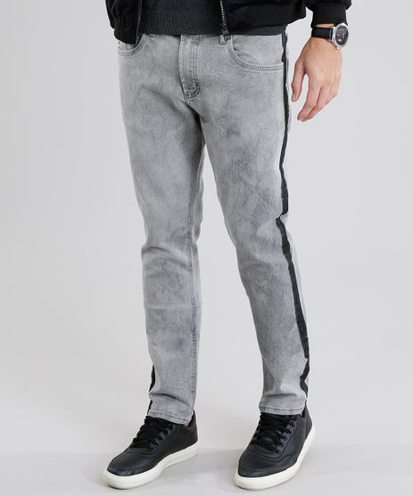 Calca-Jeans-Masculina-Skinny-com-Faixas-Laterais-Cinza-9029595-Cinza_1