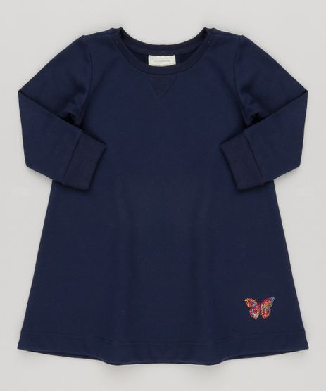 Vestido-Infantil-com-Bordado-em-Paetes-Manga-Longa-em-Moletom-Azul-Marinho-9122262-Azul_Marinho_1