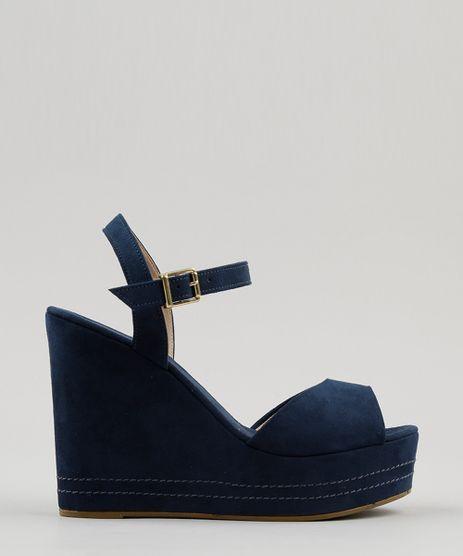 Sandalia-Plataforma-Feminina-em-Suede-Azul-Marinho-9052594-Azul_Marinho_1