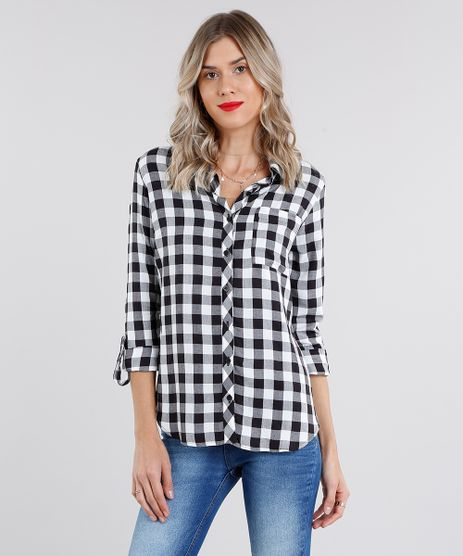 Camisa-Feminina-Estampada-Xadrez-Manga-Longa-Off-White-8962144-Off_White_1