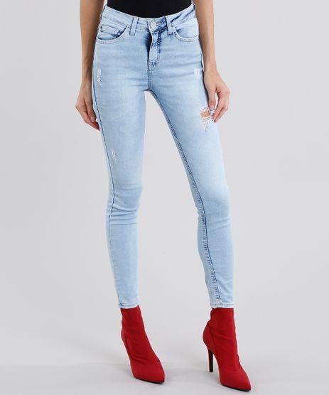 Calca-Jeans-Feminina-Super-Skinny-Destroyed-Azul-Claro-9151860-Azul_Claro_1