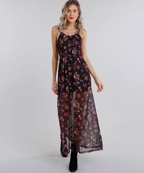 Vestido-Feminino-Longo-Estampado-Floral-em-Tule-de-Alca-Preto-9132015-Preto_1