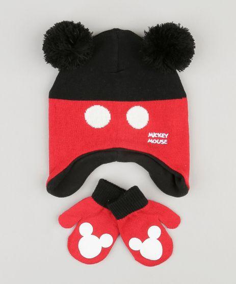 Kit-de-Gorro---Luva-Infantil-em-Trico-Mickey-Preto-8868148-Preto_1