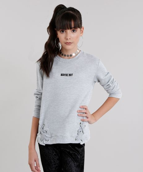 Blusao-Infantil--Maybe-Not--com-Ilhos-Decote-Redondo-Manga-Longa-Cinza-Mescla-9054441-Cinza_Mescla_1