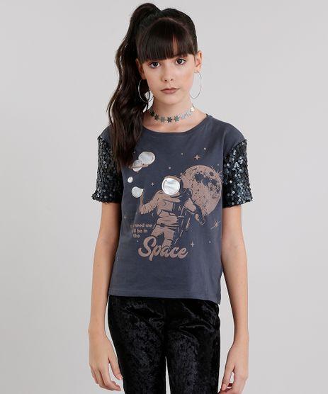 Blusa-Infantil--Space--Manga-Curta-com-Paetes-em-Algodao---Sustentavel-Chumbo-9038964-Chumbo_1