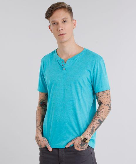 Camiseta-Masculina-Basica-com-Botoes-Verde-Agua-8843364-Verde_Agua_1