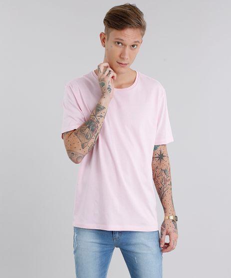 Camiseta-Masculina-Basica-Manga-Curta-Gola-Careca-Rosa-Claro-8655542-Rosa_Claro_1