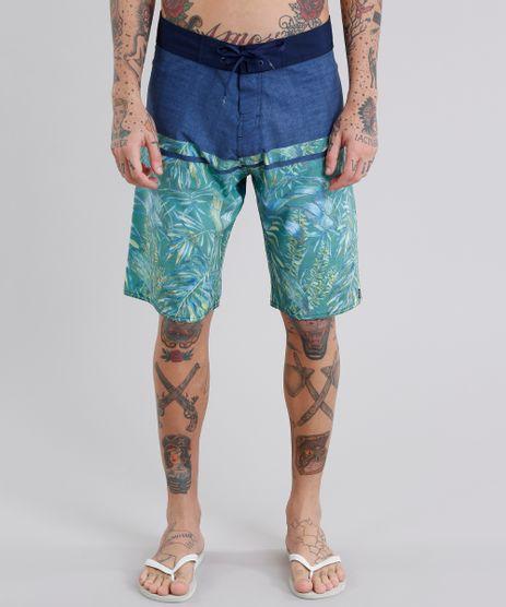 Bermuda-Surf-Masculina-Estampada-de-Folhagens-Azul-Marinho-9102699-Azul_Marinho_1